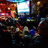 KRISTOPHER RADDER — BRATTLEBORO REFORMER<br /> Massive group of people fill McNeill's Brewery, on Elliot Street, in Brattleboro, to cheer on various democratic candidates as results start to come in during the 2018 Midterm elections on Tuesday, Nov. 6.