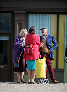 'Electric Dreams' TV series on set filming, Poundbury, DORCHESTER, DORSET, ENGLAND