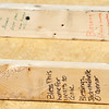 Globe/T. Rob Brown<br /> Members of First United Methodist Church in Elgin, Ill., left messages on pre-constructed frame pieces that were installed Monday morning, June 10, 2013, for Emily Morrison's Joplin home. The church youth group is working in conjunction with Rebuild Joplin.