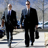0207CURNOW.jpg Former Boulder Police Officer Brent Curnow, right, walks with his lawyer Patrick Mulligan to the Boulder County Jail for filing of charges in the case of the Mapleton Hill elk shooting in Boulder, Colorado<br /> February 7, 2013. DAILY CAMERA/ Jeremy Papasso