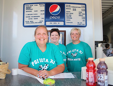 LEANDRA BEABOUT | THE GOSHEN NEWS Christy Cordell, Beth Kreuter and Leslie Buck, all of Goshen