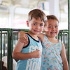 LEANDRA BEABOUT | THE GOSHEN NEWS<br /> Twins John and Harlie Bulger, 5, of South Bend
