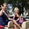 STACEY DIAMOND | THE GOSHEN NEWS<br /> Wakarusa Maple Syrup Festival Queen Paige Henschen, 14, of Wakarusa, and Wakarusa Maple Syrup Festival Sweetheart Olivia Greenlee, 6, of Goshen