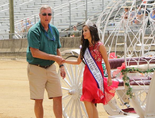 STACEY DIAMOND   THE GOSHEN NEWS<br /> Terry Shewmaker and 2017 Ekhart County 4-H Fair Queen Samantha Shank