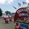 STACEY DIAMOND | THE GOSHEN NEWS<br /> Floats arrive at the Elkhart County 4-H Fair fairgrounds.