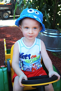 LEANDRA BEABOUT | THE GOSHEN NEWS Caden Yoder, 3, of Warsaw