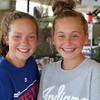 Macy Lengacher, 13, Goshen, and Hayden Neer, 12, Goshen