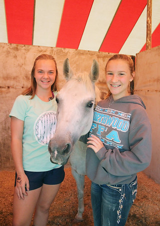 LEANDRA BEABOUT | THE GOSHEN NEWS Kylie Thornton, 15, and Julie Ely, 13, of Nappanee