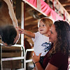LEANDRA BEABOUT | THE GOSHEN NEWS<br /> Leah Wagers, 3, and Emily Crawford, both of Elkhart