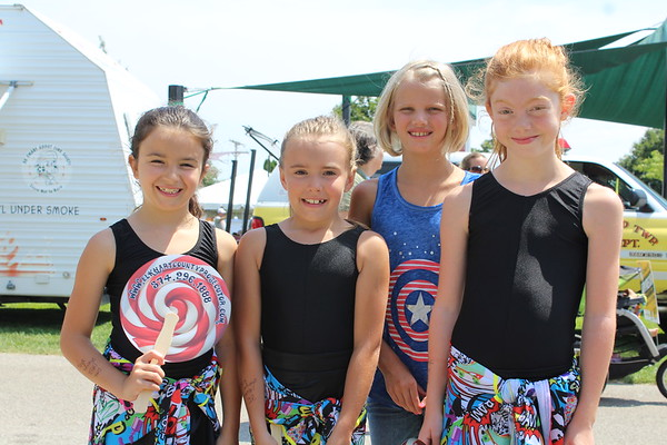 ELIJAH DURNELL | THE GOSHEN NEWS<br /> Zoe, 8, Gianna, 8, Emily, 9, Isabella, 8, all of the Robin School of Dance in Elkhart