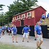 STACEY DIAMOND | THE GOSHEN NEWS<br /> Grace Community Church members march in the fair parade.