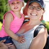 LEANDRA BEABOUT | THE GOSHEN NEWS<br /> Madison Byer, 3, and Jodi Byer, both of Elkhart