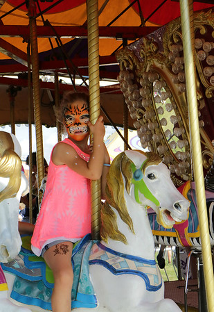 STACEY DIAMOND | THE GOSHEN NEWS<br /> Janessa Lalonde, 5, of Sturgis, Michigan