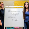 JAY YOUNG | THE GOSHEN NEWS<br /> Waterford kindergarten teachers Courtney Gordon, left, and Karina Ortega are pictured Wednesday morning at Waterford Elementary School. The pair are starting a complete language immersion program for English and Spanish in the fall.