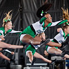 JAY YOUNG | THE GOSHEN NEWS<br /> Members of the Concord High cheerleading squad leap in the air during their performance while competing in the 44th annual cheerleading contest that is part of the Elkhart County 4-H Fair Friday afternoon. Three cheer squads took part in the competitive portion of the event, with Concord taking first place, Wawasee High taking second place and Oregon-Davis High placing third. John Adams High was also on hand as the only squad competing in the spirit squad portion of the event. Other activities included a jump off and demonstrations by Indiana Ultimate.