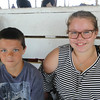 JOHN KLINE | THE GOSHEN NEWS <br /> Aaron Olson, 12, and Bobby Jo Stark, 13