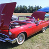 ADAM RANDALL | THE GOSHEN NEWS<br /> Jim and Vicky Thompson, Goshen, brought their 1957 Ford Thunderbird to the fair Saturday.