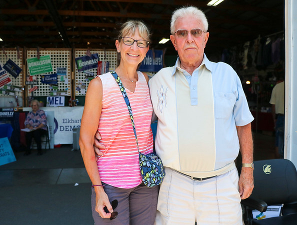 LEANDRA BEABOUT | THE GOSHEN NEWS<br /> Jody Downey, of Highland Falls, New York, and Dale Showalter, of Goshen