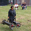 LIZ RIETH | THE GOSHEN NEWS Andrea Espinosa competes in the farmer's walk event in the Elkhart County 4-H Fair Strongman Competition Saturday.