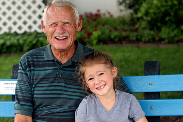 Richard Miller, of Syracuse, and Zoe Schroeder, 4, of Nappanee