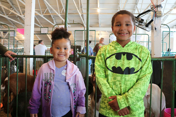 Mikyayla Garrido, 5, with Sylas Wright, 6, of Elkhart
