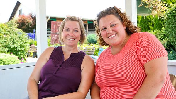 LEANDRA BEABOUT   THE GOSHEN NEWS<br /> Kris Miller and Carmen Cunningham, both of Goshen