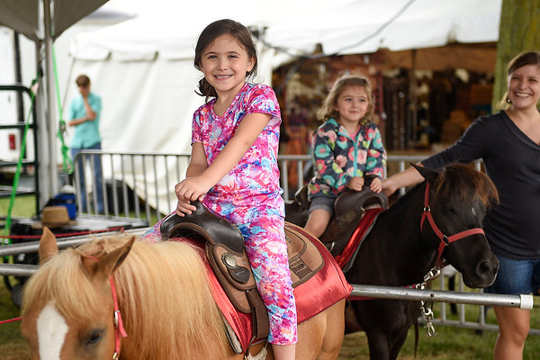 BEN MIKESELL | THE GOSHEN NEWS<br /> Leyla M., 6, with her sister Noella, of Elkhart.