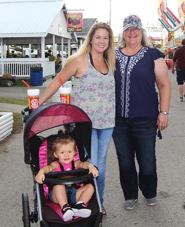 ELIJAH DURNELL | THE GOSHEN NEWS<br /> Kaylie Stichter, Katie Stichter and Julie Arthur, all of Florida
