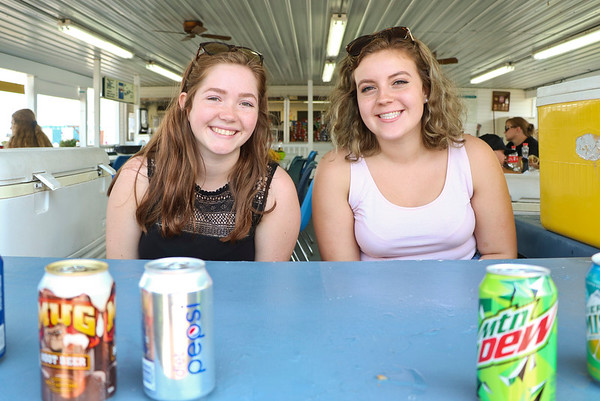 LEANDRA BEABOUT | THE GOSHEN NEWS<br /> McKenna Thompson, 17, and Chloe Taylor, 17, both of Goshen