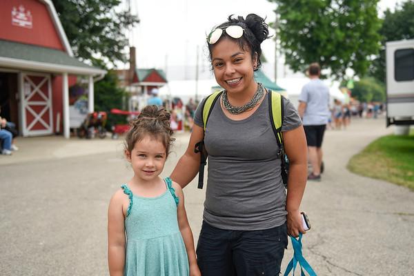 BEN MIKESELL | THE GOSHEN NEWS<br /> Alejandra Floyd, Goshen, with her daughter Nova, 4.