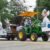 BEN MIKESELL | THE GOSHEN NEWS<br /> The 4-H Jacksonians Club makes its way down Lincoln Avenue during the 2018 4-H Fair Parade Sunday in downtown Goshen.