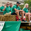 BEN MIKESELL | THE GOSHEN NEWS<br /> The Adam family, the 4-H Family of the Year, wave to the crowd during the 2018 4-H Fair Parade Sunday in downtown Goshen.