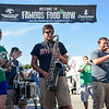 BEN MIKESELL | THE GOSHEN NEWS<br /> Concord marching band alumni perform down food row during Thursday's Taste of the Fair at the Elkhart County 4-H Fair.