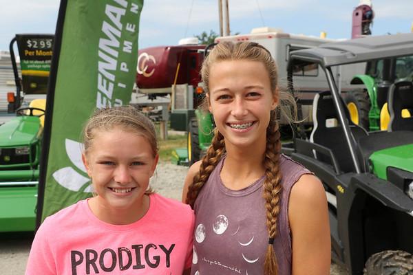 JOHN KLINE | THE GOSHEN NEWS<br /> Emily Yeager, 12, of Bristol, and Ella Yoder, 14, of Middlebury