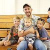 JULIE CROTHERS BEER | THE GOSHEN NEWS<br /> Josh Koontz of Cromwell with children Easton, 6, Leighton, 11, and Braxton, 4