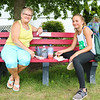 LEANDRA BEABOUT | THE GOSHEN NEWS<br /> Pat Carpentar, of Goshen, and Marley Jessup, 11, of Middlebury