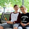 Caleb Pedrick, 11, with Justin Burden, 11, Goshen