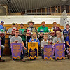 GEOFF LESAR | THE GOSHEN NEWS<br /> <br /> Winners of the Elkhart County 4-H Dairy Auction gather Friday following the auction. In front, from left, are Ryan Blosser, Goshen; Garrett Weldy, Wakarusa; Dulaney Paul, Goshen; Oliver Nisen, Leesburg; Rose Thomas, Middlebury; and Stepheni Gongwer, Elkhart. In back, from left, are Marc Blosser,of Goshen, father of Ryan; Brad Paulus, of ADM Nutrition; Don Weldy, of Wakarusa, grandfather of Garrett; Denise Rush, of Goshen, aunt of Garrett; Jeremy Rush, of Goshen, uncle of Garrett; Dr. Jerry Sellon, of Dr. Weldy's Associates Inc.; Dr. Robert Zell, of DVMS; Maury Kline, of Select Sires; and Judith Gongwer, mother of Stepheni.