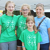 JULIE CROTHERS BEER | THE GOSHEN NEWS<br /> Nicole Ott, 13, Goshen, and Annelise Green, 12, Amelia Green, 9, and Laura Green, all of New Paris