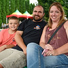 BEN MIKESELL | THE GOSHEN NEWS<br /> Conner Smith, 10, with his parents Fount and Bridget Smith, of Goshen.