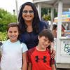 BEN MIKESELL | THE GOSHEN NEWS<br /> Nikki Gupta with Kiran, 9, and Kellen, 7, of Fort Wayne.