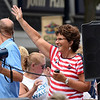 BEN MIKESELL | THE GOSHEN NEWS<br /> U.S. Representative Jackie Walorski waves to the crowd during the 2018 4-H Fair Parade Sunday in downtown Goshen.