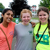 JOHN KLINE | THE GOSHEN NEWS<br /> Reesha Bhagat, 14, Norah Schloneger, 13, and Samantha Markham, 15, all of Goshen
