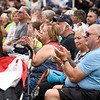 BEN MIKESELL | THE GOSHEN NEWS<br /> The crowd applauds for New Paris native Jordan Kirkdorffer, who appeared on NBC's 'The Voice,' as he performs at a concert Monday night on the Heritage Park stage at the Elkhart County 4-H Fair.