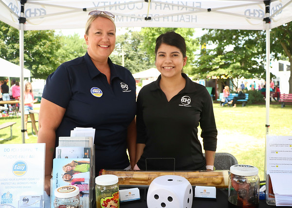 LEANDRA BEABOUT | THE GOSHEN NEWS<br /> Adrienne Thomas and Erika Contreras-Padilla, both of Elkhart