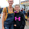 Aubriy Hartman, Wakarusa, with her daughter Dakoda, 12
