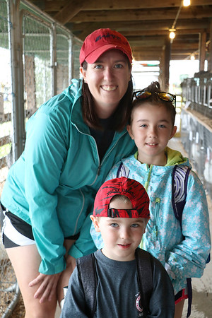 JOHN KLINE | THE GOSHEN NEWS<br /> Michelle Griffith with Vienna Griffith, 8, and Crosby Griffith, 4, all of Goshen