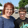 JOHN KLINE | THE GOSHEN NEWS<br /> Wendy Becker with Nathan Becker, 12, both of Goshen
