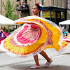 BEN MIKESELL | THE GOSHEN NEWS<br /> Members of the Multicultural Young Dancers perform during the 2018 4-H Fair Parade Sunday in downtown Goshen.