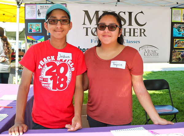 LEANDRA BEABOUT | THE GOSHEN NEWS<br /> Joshua Garcia, 13, and Tayriz Garcia, 16, both of Goshen
